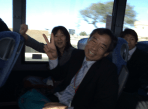 On the bus over to the residence of the Japanese General Consul