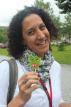 Karima enjoys a Marimo lollypop