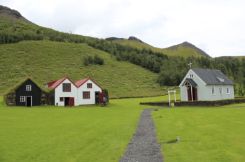 The houses and a small church