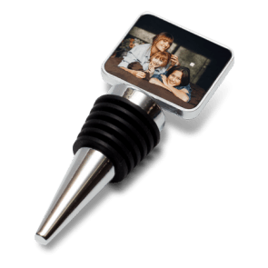 Chrome Bottle Stopper  – Square