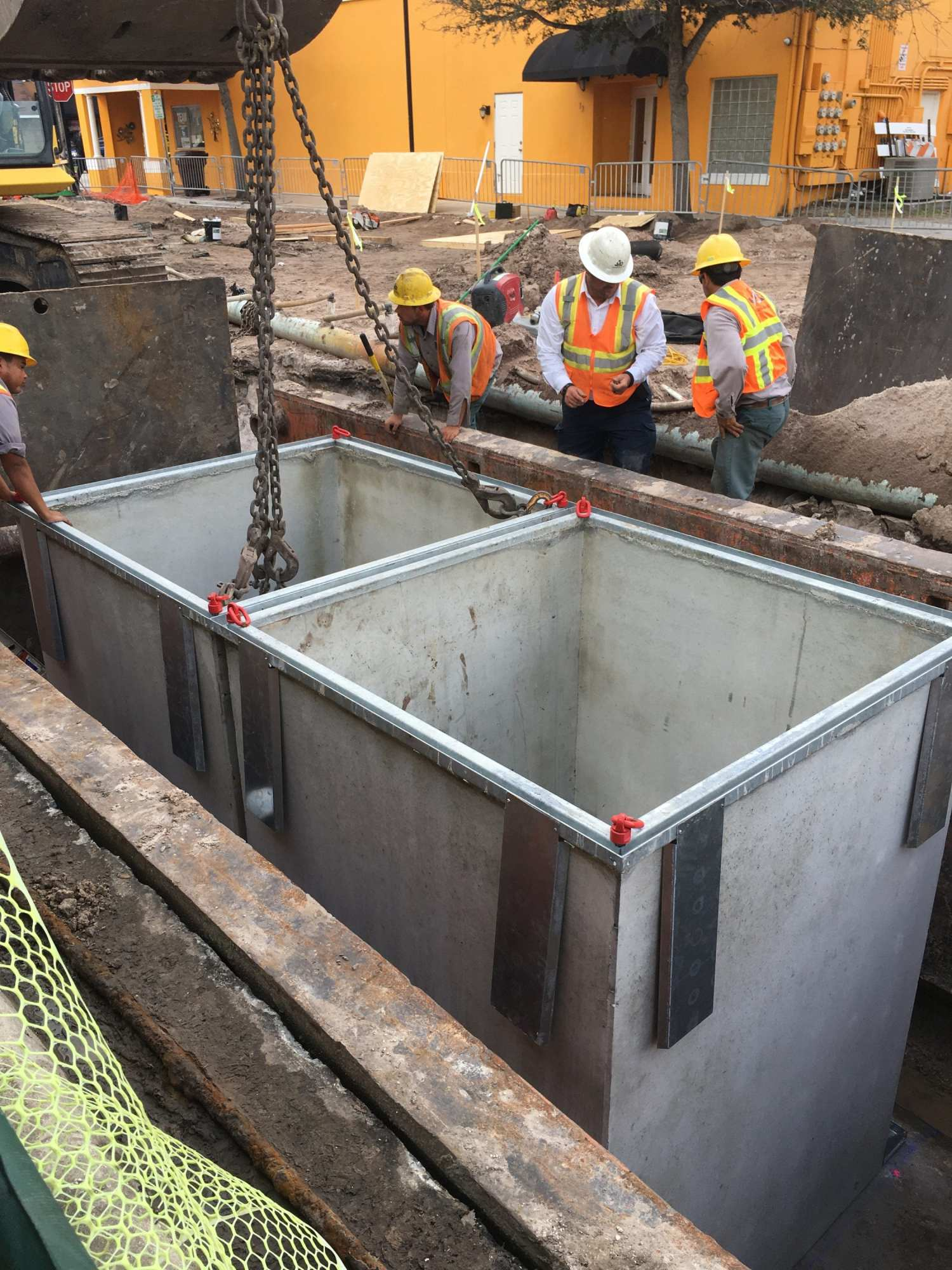 Underground Refuse Systems Side by Side Construction