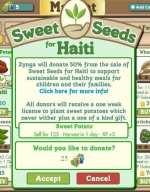 Sweet Seeds: Zynga Has Raised Over $1 Million For School Children In Haiti