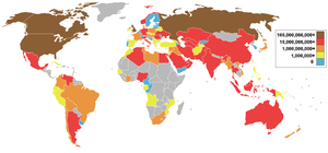 Natural gas production by countries in cubic m...