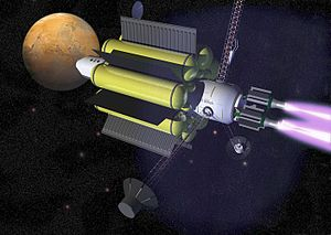 Artist's rendition of a future spacecraft that...