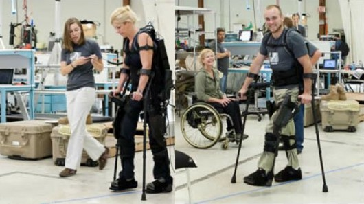 Berkeley Bionics' exoskeleton lets wheelchair users walk