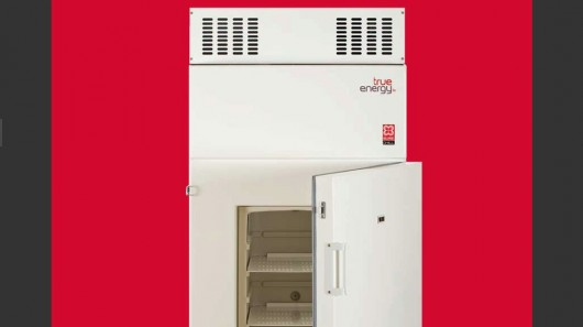 The True Energy Vaccine Refrigerator can keep its contents cold for ten days without power