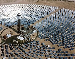 Solar One power plant in Mojave Desert, California