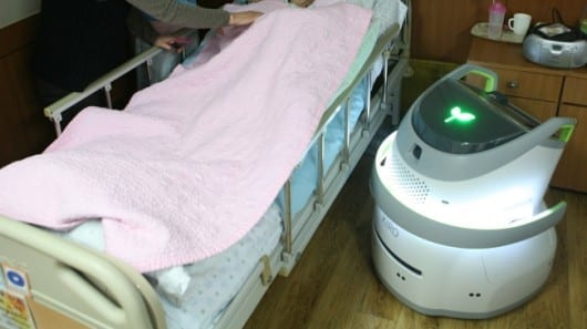 Korean nurse bot sniffs the air to detect soiled diapers