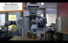 Robots collaborate to deliver meds, supplies, and even drinks