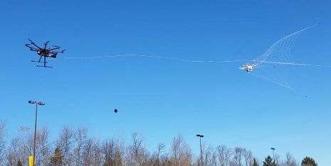 Mo Rastgaar's drone catcher speeds toward its target drone.