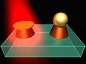 SELECTIVE LASER EXPOSURE TO CREATE HYBRID NANOSTRUCTURES. CREDIT: ITMO UNIVERSITY