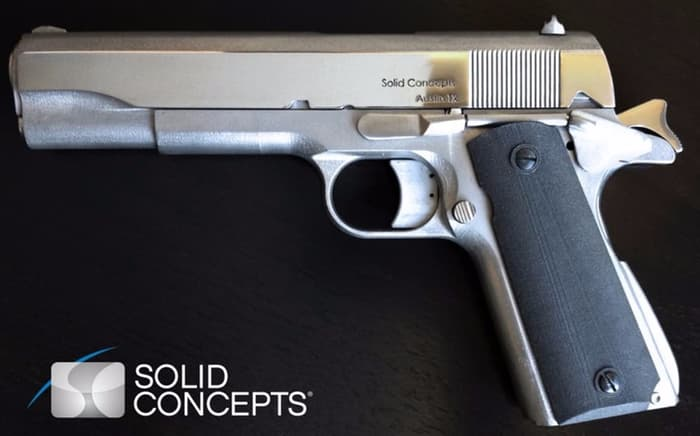 A fully functional 1911 semiautomatic pistol made by 3D printing