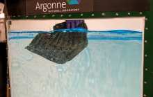 A reusable sponge that soaks up surface and water column oil repeatedly hundreds of times