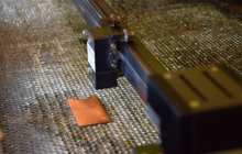 Treating metal surfaces with lasers to kill bacteria