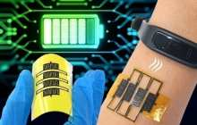 A self-powered stretchable micro-supercapacitor system for wearable health-monitoring and diagnostic devices