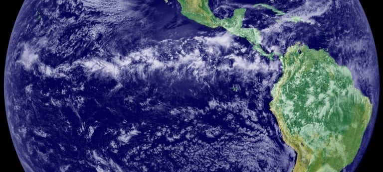 Roughly in line with the equator, Earth's tropical rain belt is expected to shift irregularly in large hemispheric zones as a result of future climate change, according to a new study by UCI civil & environmental engineering and Earth systems science researchers. The alterations are expected to cause droughts and threaten biodiversity and food security across broad swaths of the planet by the year 2100. NASA
