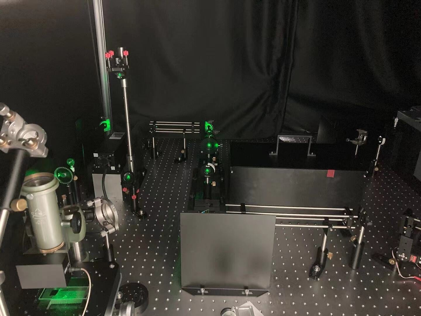 The new approach for digitizing color can be applied to cameras, displays and LED lighting. Because the color space studied isn't device dependent, the same values should be perceived as the same color even if different devices are used. Pictured is a corner of the optical setup built by the researchers. Credit: Min Qiu's PAINT research group, Westlake University