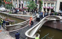 The world's first 3D printed steel bridge