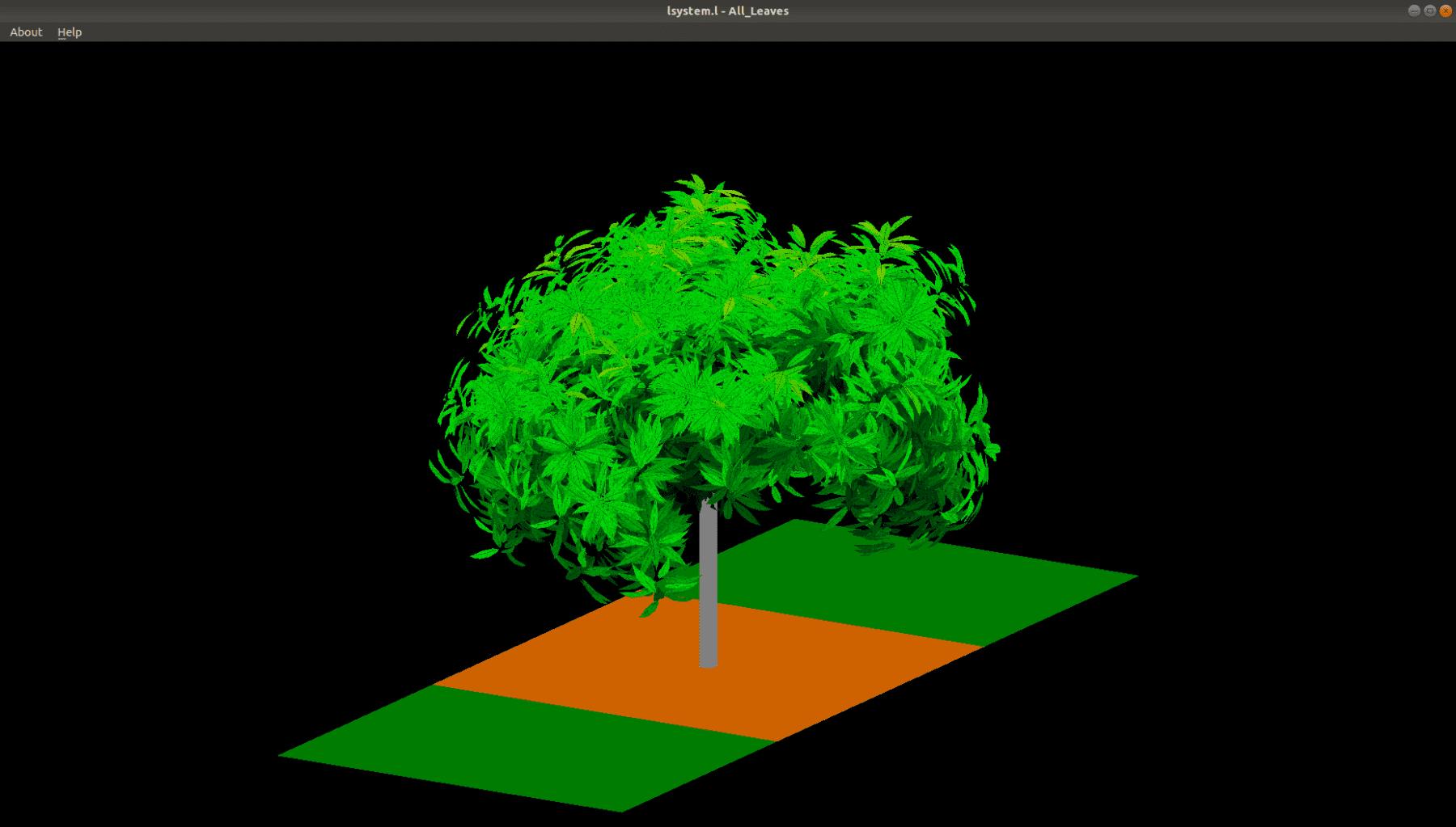 Digital image of mango tree by Dr Liqi Han