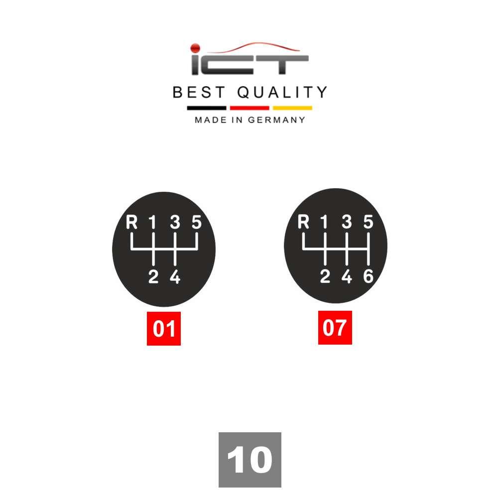 Leather ICT gear shift knob gaiter VW Polo 6N LED stitch