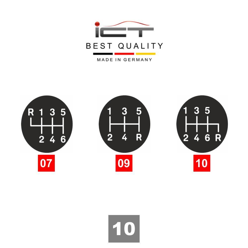 100% leather ICT gear shift knob gaiter boot frame LED