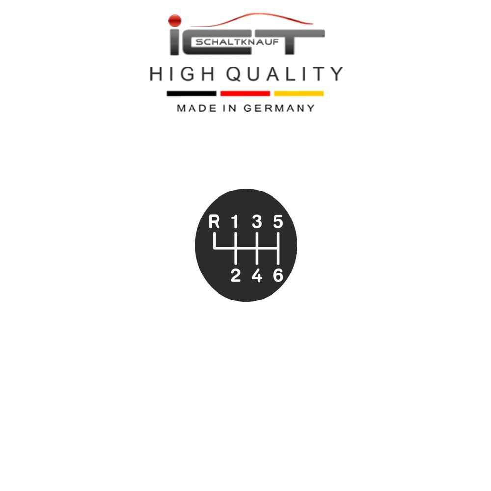 Stitch silver-grey 6G ICT gear shift knob LED gaiter boot