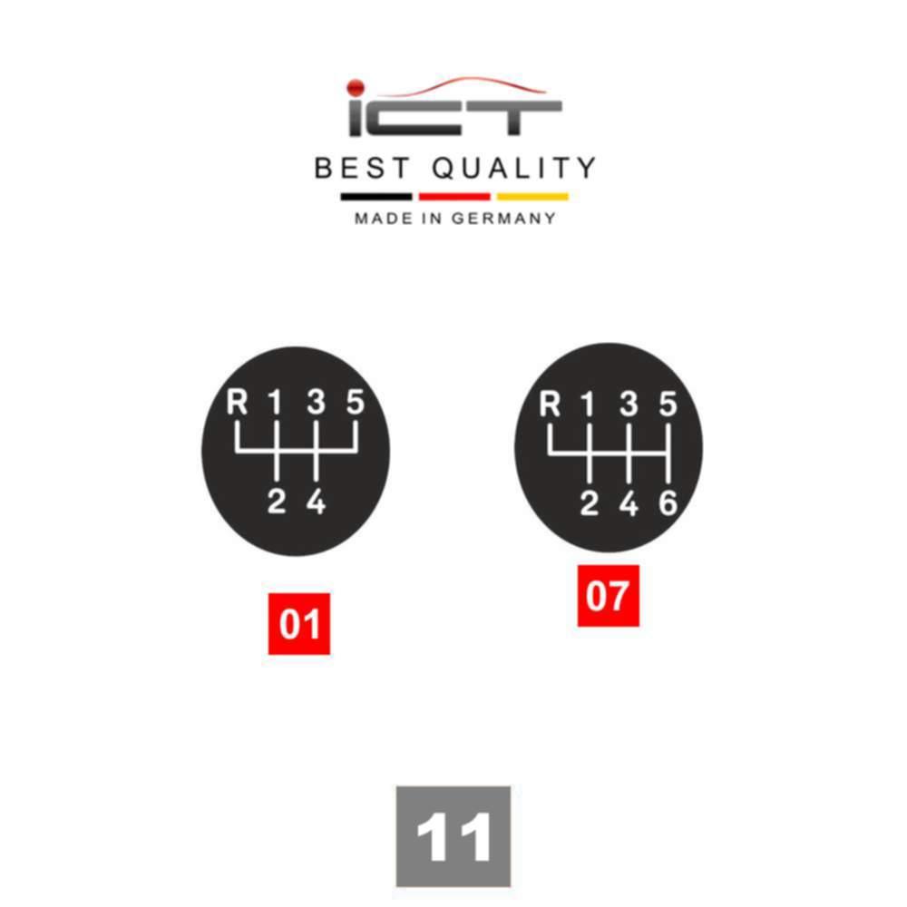 ICT pomo de cambio funda palanca cuero Seat Ibiza Typ 6J