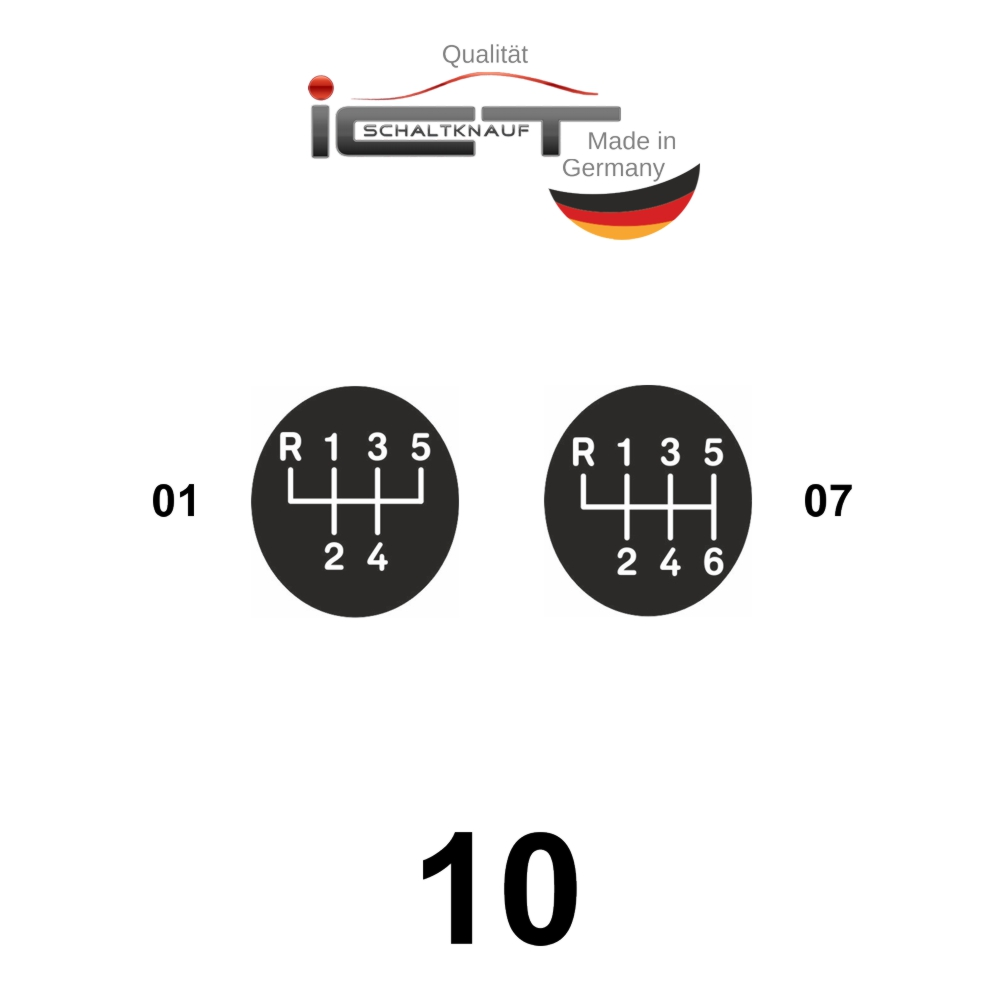 LED ICT shift gear knob leahter frame gaiter boot VW