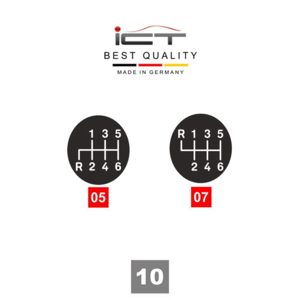 100% leather ICT Mercedes E Class W211 shift gear knob