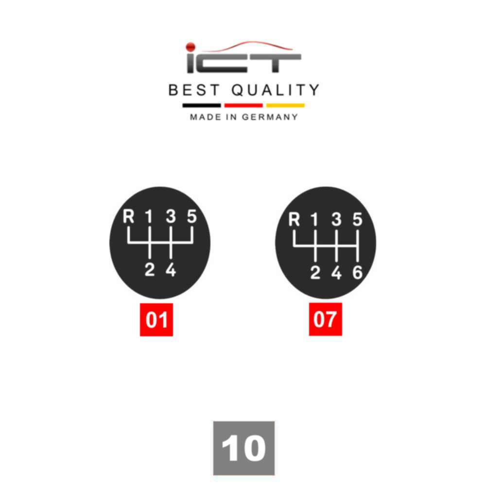 ICT LED gear shift knob gaiter boot leather Audi A3 8P