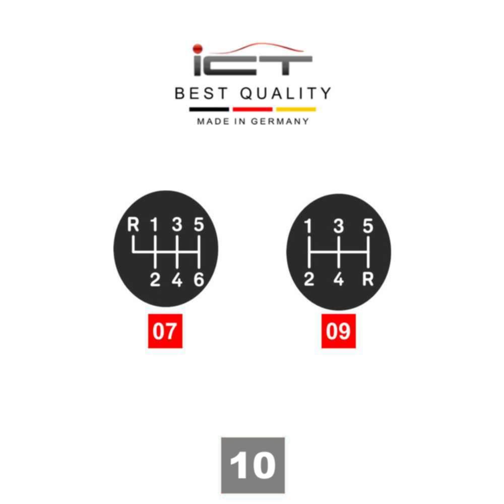 Orig ICT leather gear shift knob gaiter boot Audi A6 C5