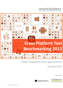Cross Platform Tool Benchmarking 2013