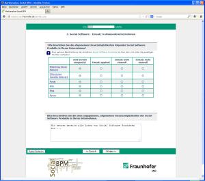 Social BPM Umfrage - Fraunhofer IAO