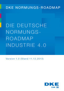 Deutsche Normungs-Roadmap Industrie 4.0