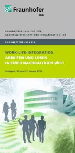 Zukunftsforum 2014 - Fraunhofer IAO