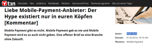 Mobile Payment - Ein offener Brief