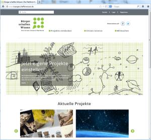 """Bürger schaffen Wissen - eine neue Internetplattform für """"Citizen Science"""""""