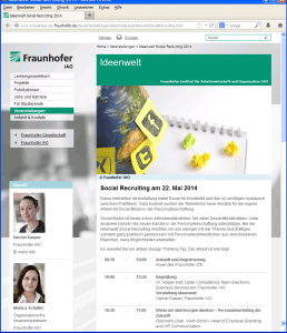 Ideenwelt Social Recruiting am Fraunhofer IAO