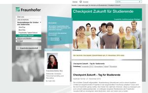 Checkpoint Zukunft 2014 - Karriere bei Fraunhofer in Stuttgart