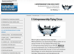 E-Entrepreneurship Flying Circus