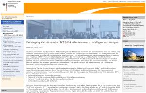 Fachtagung KMU-innovativ: IKT 2014 - Gemeinsam zu intelligenten Lösungen