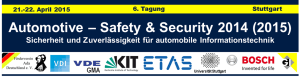 Automotive - Safety & Security am 21.+22.4.2015 bei Bosch in Feuerbach