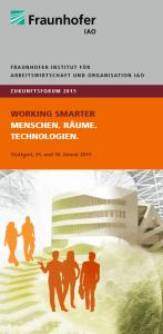 Zukunftsforum 2015 des Fraunhofer IAO