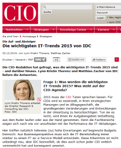 IDC Predictions 2015: IT-Trends für 2015 von IDC