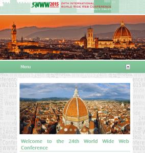 WWW 2015 in Florenz / Florence / Firenze