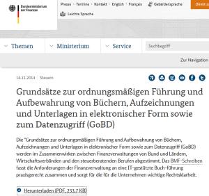 GoBD: Neue Regelungen für IT-gestützte Buchführung am dem 1.1.2015