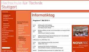 Informatiktag 2015 an der HFT Stuttgart