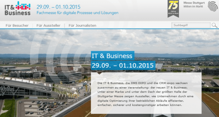 IT & Business 2015 in Stuttgart: Alles rund um Unternehmenssoftware