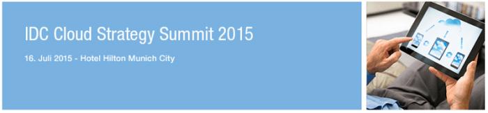 IDC Cloud Strategy Summit 2015 in München
