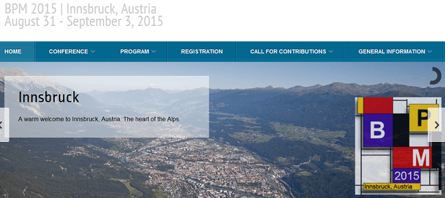BPM 2015 vom 31.8. bis 3.9. in Innsbruck